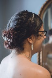 Bride Getting Ready - Kimberly and Dustin's Wedding - Cary NC